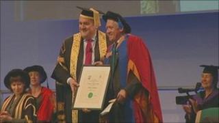 BBC presenter Harry Gration receives degree at Leeds Metropolitan University