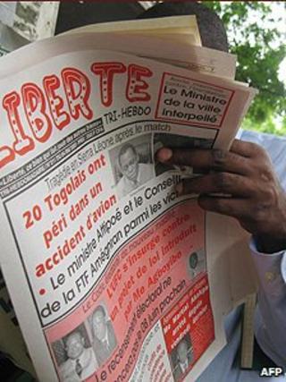 Togolese newspaper