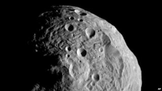 Image of the massive asteroid Vesta, which Nasa's Dawn spacecraft is now orbiting
