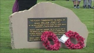 William Jones's plaque in Philips Park Cemetery