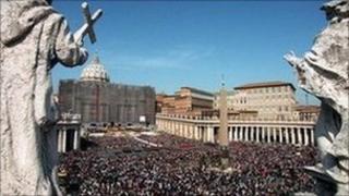 St Peter's Square, Rome, file pic