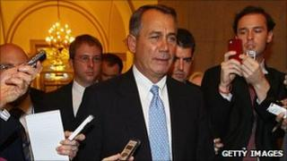 John Boehner at Capitol on Thursday