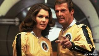 Lois Chiles and Roger Moore