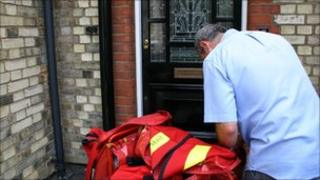 Postman doing his rounds