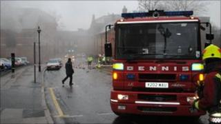 Fire crews at an incident in Nottingham
