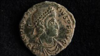Roman coin found west of Exeter