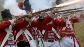 Napoleonic battle reenactment