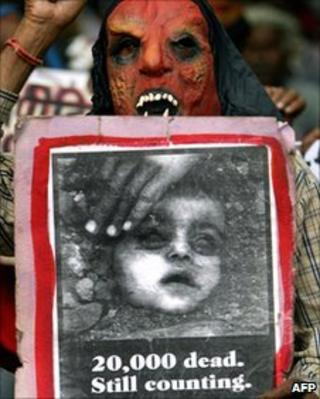 File photo of Bhopal protest in July 2006