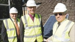 Martin Renforth, Bishop Nigel Stock and Nicholas Edgell