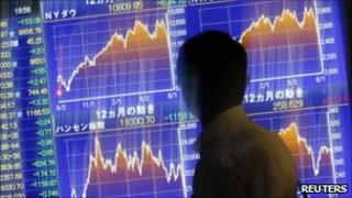 Stock market screens, Reuters