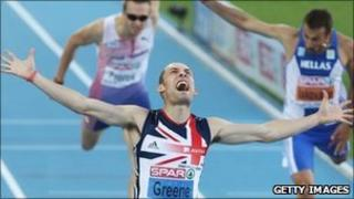 Dai Greene of Great Britain at the 2010 European Athletics Championships
