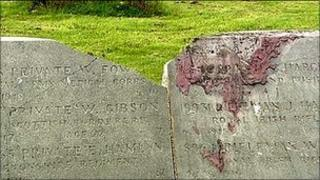 Belfast City Cemetery damage