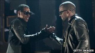 Jay-Z (left) and Kanye West