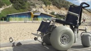 New beach huts for disabled users