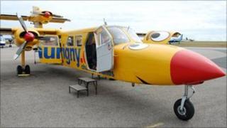 Aurigny Trislander plane