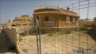 Empty villas in Alicante (file photo)