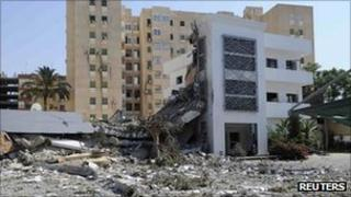 A destroyed building in Tripoli. Photo: