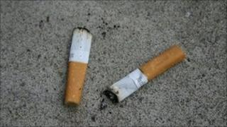 Cigarette ends