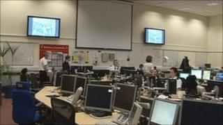 Nottinghamshire Police control room