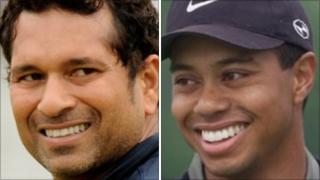 Sachin Tendulkar and Tiger Woods