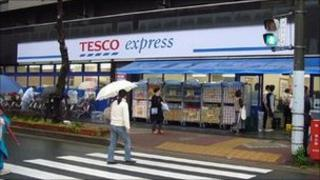 Tesco Express store in Japan