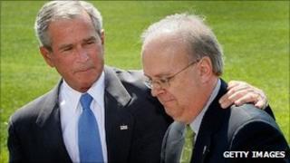George W Bush and Karl Rove