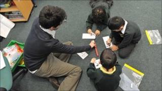 Male primary teacher