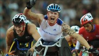 GB wheelchair racer Dave Weir who won two golds in Beijing in 2008