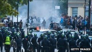 Riots in Hackney, east London