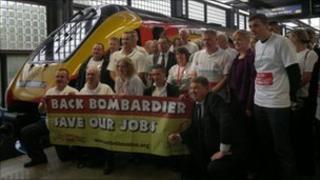 Delegates at St Pancras station