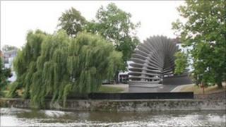 Quantum Leap sculpture