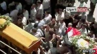 Funeral procession in Damascus (from unverified video posted online on 3 September)