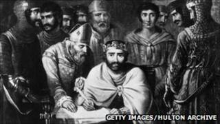 The Magna Carta was signed in Runnymede by King John