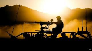 British Royal Marines on maneuvers in Afghanistan