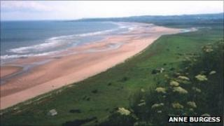 St Cyrus beach. Pic copyright Anne Burgess and licensed for reuse under Creative Commons Licence
