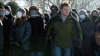 Scene from Contagion, starring Matt Damon