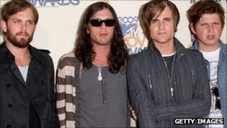 Left - right: Caleb Followil, Nathan Followill, Jared Followill and Matthew Followill