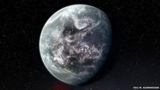 Artist's impression of exoplanet