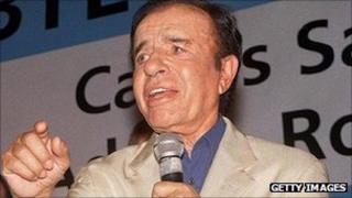 Carlos Menem in 2005