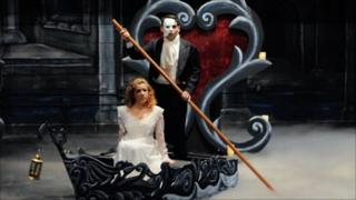 US high school production of Phantom of the Opera by County College of Morris in New Jersey
