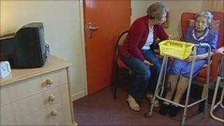 Woman in care home in Nottinghamshire