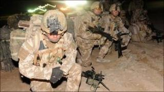 British soldiers in Afghanistan in February 2010