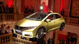 The new Honda Civic being unveiled