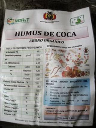 Bag of coca compost