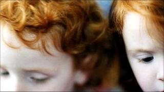 Red-haired children