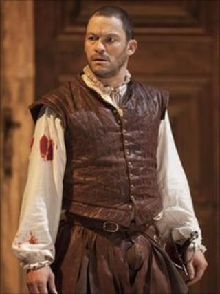 Dominic West in Othello. Photo: Johan Persson
