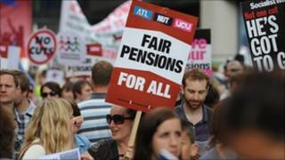 Pensions strike