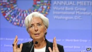 Christine LaGarde at the IMF press conference, 22 Sept 2011