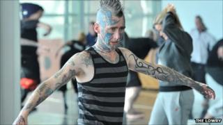 A Fallen Angels Dance Theatre performer
