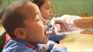 Vaccination of children in China